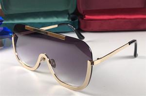 4698 Nuevas gafas de sol para mujeres y hombres moda gafas de sol envolver gafas de sol medio marco de espejo de recubrimiento de metal lente de fibra de carbono patas de verano estilo de verano