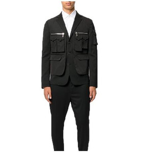 Hot New plus size male Singer costumes 2020 Brand Mens clothing Fashion Blazer GD Hair stylist Catwalk Slim Designer Pocket Design Men Suits