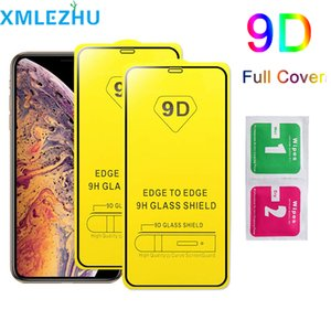 9D Curved Abdeckung Ausgeglichenes Glas für iPhone 11 X XR XS Max 8 7 6s Plus-Samsung m30 A20 A50 A70 Displayschutzglas Schutzfolie