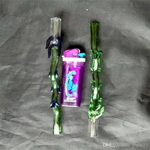Paille BCBP huile brûleur de verre en gros verre Pipes eau huile Fumeurs Rigs