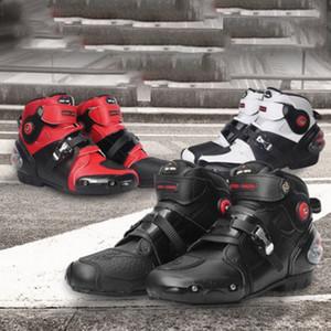 La conducción de motocicletas zapatos de los hombres de cuatro estaciones botines anti-caída de la motocicleta antideslizantes zapatos de carreras botas botas de jinete del verano de la primavera