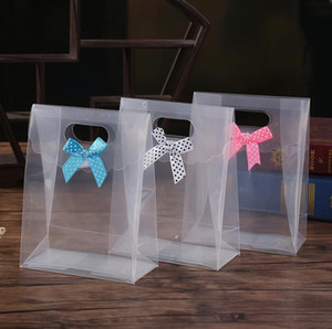 100PCS واضحة وشفافة هدية مربع مربع حلوى الشوكولاته PVC حقيبة صناديق حفل زفاف لصالح حزب الحدث الديكور كاجا دي dulces