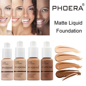 PHOERA Makeup Foundation weiche Matte lange Abnutzungs Flüssige Foundation Natural Oil Control-Make Up Concealer