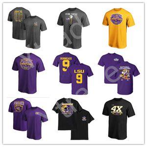 LSU Tigers Burreaux College Football Hemd 2019 NCAA Nationale Champion Personalisieren Legend-Leistungs-T-Shirt Fans Mode Sportbekleidung
