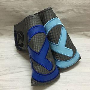 Yüksek Kaliteli T Nakış Golf Putter Kapak PU Deri Golf Blade Putter Kafa 8 Colors kapsayacak