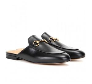 Mullers deri yarı sarılmış düz tabanlı Horsebit terlik İtalyan klasik peri yaz eğlence dışında katırlar sandalet giymek hakiki deri