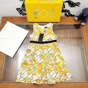 European & American Style High quality kids fashion clothes sleeveless dress baby Girl Ball Gown Pirncess dress outfit Children's Day