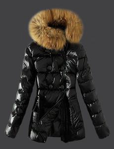 M85 Clássico Das Mulheres Da Marca de Inverno Quente Para Baixo Casaco Com gola de Pele de Penas Vestido Jaquetas Das Mulheres Ao Ar Livre Para Baixo Casaco Mulher Moda Parkas Jaqueta