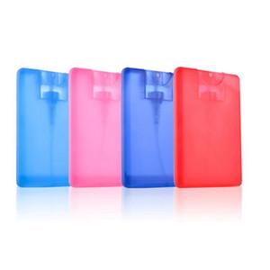 20 ml Kunststoff-Sprühflasche Kreditkarte Form Pocket Size Wohnung Sprühflasche für Parfüm leer Nebelsprüher Flaschen Hand Sprays KKA7876