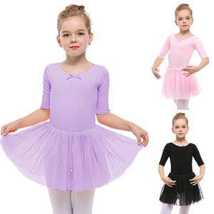 Professional Ballet Tutu Chank Swan Lake Costume Pink Viola Black Ballet Dress per bambini Pancake Tutu Girls Dancewear