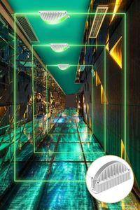 360 grados Lámpara de pared LED arandela de 10W 20W RGB proyector de iluminación del paisaje al aire libre DC24V focos a prueba de agua de luz lineal
