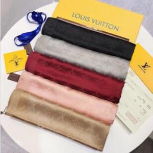 2019 écharpe femmes marque designer foulard en soie LOGO complet foulards lettre de mode foulards femmes châles 180x70 cm