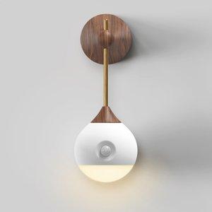 BRELONG akıllı indüksiyon gece lambası Duvara monte insan vücudu indüksiyon lamba ayrılabilir hemşirelik lamba başucu