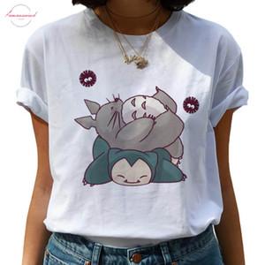 Totoro Miyazaki Hayao Harajuku T Shirt Women Ullzang Ghibli Funny T Shirt Kawaii Anime Tshirt 90S Graphic Top Tees Female