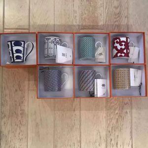 Lusso Drinkware 6 pc / insieme europeo in ceramica set da tè e caffè tazze di caffè della porcellana caffettiera Jug Coppa piattino set LH018
