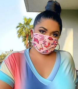 Дизайнерские наружные принты маски для лица многослойная моющаяся маска для лица рот фильтр респиратор Fit Breathable Protect Supplies DHL 0165