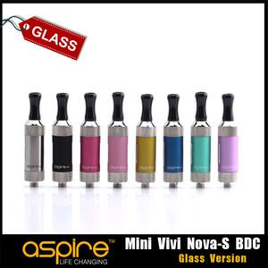 ¡DESPEJE! Auténtica Aspire Mini Vivi Nova-S cristal BDC glassomizer Clearomizer para el envío libre aspiran ecig vaporizador kit al por mayor