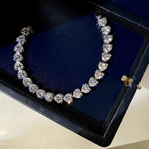 Bracciale 2020 dal design di lusso nuovo lusso a forma di cuore Taglia riga braccialetto di diamanti 1.25ct Love Diamond Wedding Couple Prom