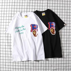 Bape Yeni Erkek stilist Tişörtlü Bape Casual Kısa Kollu Ape Başkanı Erkekler Kadınlar Yüksek Kalite Tees Boyut M-2XL