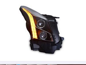 Car Style LED headlights for Cadillac ATS 14-18 for ATS head lamp all LED DRL Lens Double Beam H7 HID Xenon bi xenon lens
