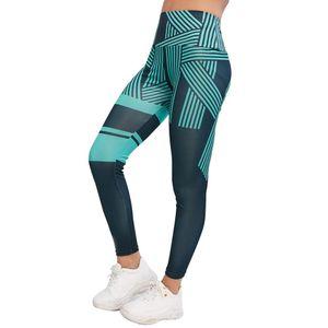 High Waist Leggings Ladies Digital Printing Striped Fitness Leggings Casual Breathable Pants Women's Clothing printed