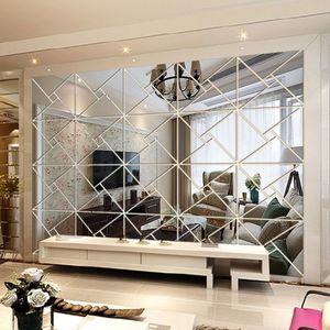 Acrylic DIY decorative mirror wall stickers environmentally friendly high-quality living room bedroom decorative mirror CX200630