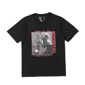 2019 Nueva Vlone Amigos monopatín camiseta de los hombres de las mujeres Negro de Hip Hop de manga corta para hombre Vlone metro estilista t shirt camiseta