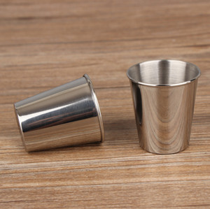 Mini Tea Cup Wine Cup Stainless Steel Coffee Water Mugs Small Wine Glasses Drinkware Kitchen Tools