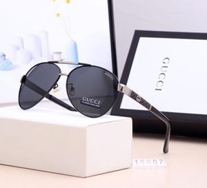 df marca occhiali da sole firmati Grande nuovo metallo Occhiali da sole per gli uomini donne Silver Mirror 56 millimetri 62mm lenti in vetro Protezione UV