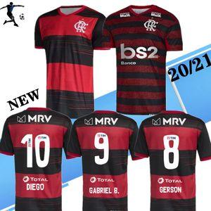 CR Flamengo 2020 2021soccer forması 20 21 Flamenko uzakta beyaz Camisa de futebol GUERRERO DIEGO 2019 3RD erkek ve kadın futbol forması maillot