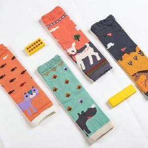 Baby Leg Warmers Girls Cartoon Soft Socks Toddler Cotton Crawling Knee Pads Animal Newborn Kneecap Air Condition Knee Protector 4 Style 5300