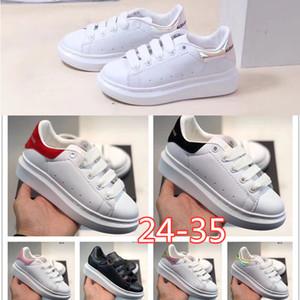 McQueen Paris 17FW Mode Luxuxentwerfer Kinder Schuhe Dad Schuh Triple S 17FW Turnschuhe für Frühling Chaussures Navy Blau Orange Vati Schuhe 24-35