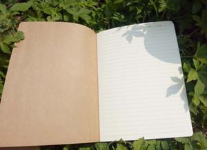 الصفحات المسطرة دفاتر دفاتر السفر دفاتر دفتر Kraft Brown Soft Cover A5 مقاس 210 مم × 140 مم 60 صفحة 30 صفائح القرطاسية اللوازم المكتبية