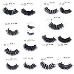 Eyelashes Mink 3D Eyelashes Natural Long Mink hair false eyelashes Extension Thick Cross Faux