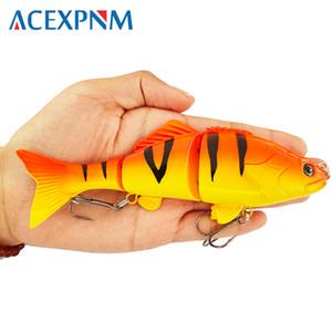 Cheap Lures Fishing Bass Lure Multi Jointed Artificial Bait Segment Lifelike Trout Swimbait Hard Crankbait Treble Hooks Hard Fishing Lures