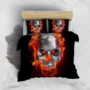 Клоун Череп Пододеяльник стал Прохладными моды 3D пододеяльник Flame King Queen Single Double Full номер удобной кровать комплект с наволочкой