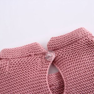 Girl Baby Infant Sweaters Long Sleeve Autumn Kids Girls Cute Baptism Lovely High Quality Kintting 0-24M Girls Bodysuit Sweaters
