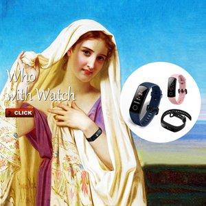 D'origine Huawei Honor Band 5 intelligent AMOLED tactile Wristband oxymètre écran couleur natation Posture Détecte 5ATM bande imperméable honneur