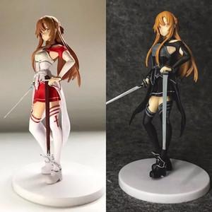 17 centimetri Sword Art Online Anime Action Figure SAO Asuna Yuuki Kirito PVC Collezione modello giocattolo regalo dei capretti sexy bambola Brand New LELAKAYA MX200727