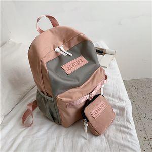 Backpack women 2020 new Korean version of campus high school college students schoolbag waterproof casual backpack women's