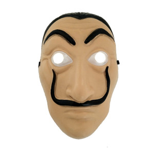 Cosplay Party Masque La Casa De Papel Masque Visage Salvador Dali Costume Film Masques Réaliste Halloween Fournitures De Noël TTA1744