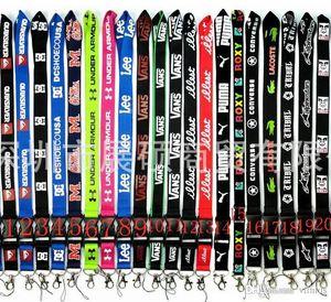 Heißer Verkauf 10 STÜCK Männer Kleidung Strap Lanyard ID Kartenhalter Schlüsselbund lanyard für Schlüssel Phone Straps können wählen nummer