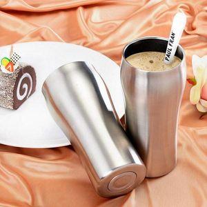 De vacío de acero inoxidable 10pcs 430 ml Vaso de cerveza taza grande de doble pared de acero inoxidable de la cerveza taza de la taza de café aislada Recipientes