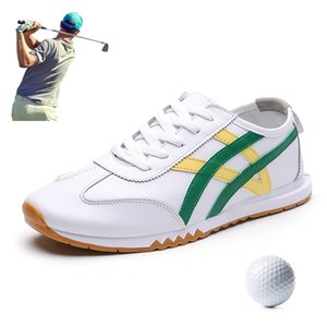 2020 Golf Shoes for Men Breathable Sneakers Golf Sport Lace Up Non-Slip Athletic Outdoor Shoes Footwear for Men