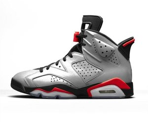 6 JSP عاكس البق الأرنب أحذية كرة السلة للرجال 3M 6S عاكس الفضة الأحذية الرياضية مع صناديق شيبمنت مجانا 2019 أحذية رياضية الأشعة تحت الحمراء