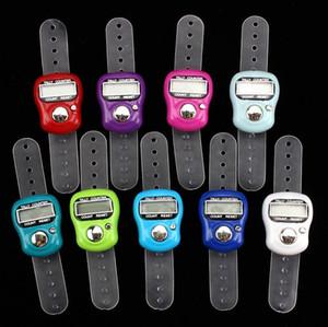 500pcs Mini Hand Hold Band Tally Counter LCD doigt de l'écran numérique Anneau électronique Dénombrement Tasbeeh Tasbih