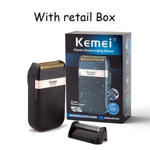 Kemei rasoir électrique pour homme double lame étanche sans fil rasoir USB Reciprocating rechargeable rasage machine Barber Trimmer bdegarden o