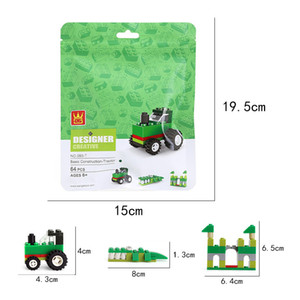 children Building block toy 4 style suit baby Souptoys Early education Parent child toys granule Building toys with building blocks toys 04