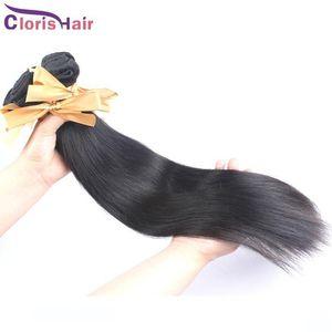 Top Hair brasiliana diritta 2 pacchi serica Capelli economico Remi umani del tessuto brasiliano Lordo diritta di estensioni dei capelli