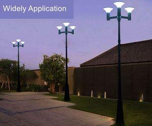 Güneş Enerjili 2.5M Triple-Kafa Sokak Vintage Açık Bahçe Güneş Lamp Post Işık Çim parthway Yükseltme